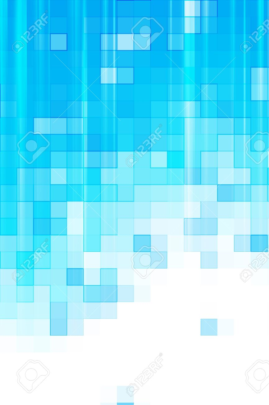 Digital Blue Background. Pixel Pattern Light Blue Pattern Stock ...