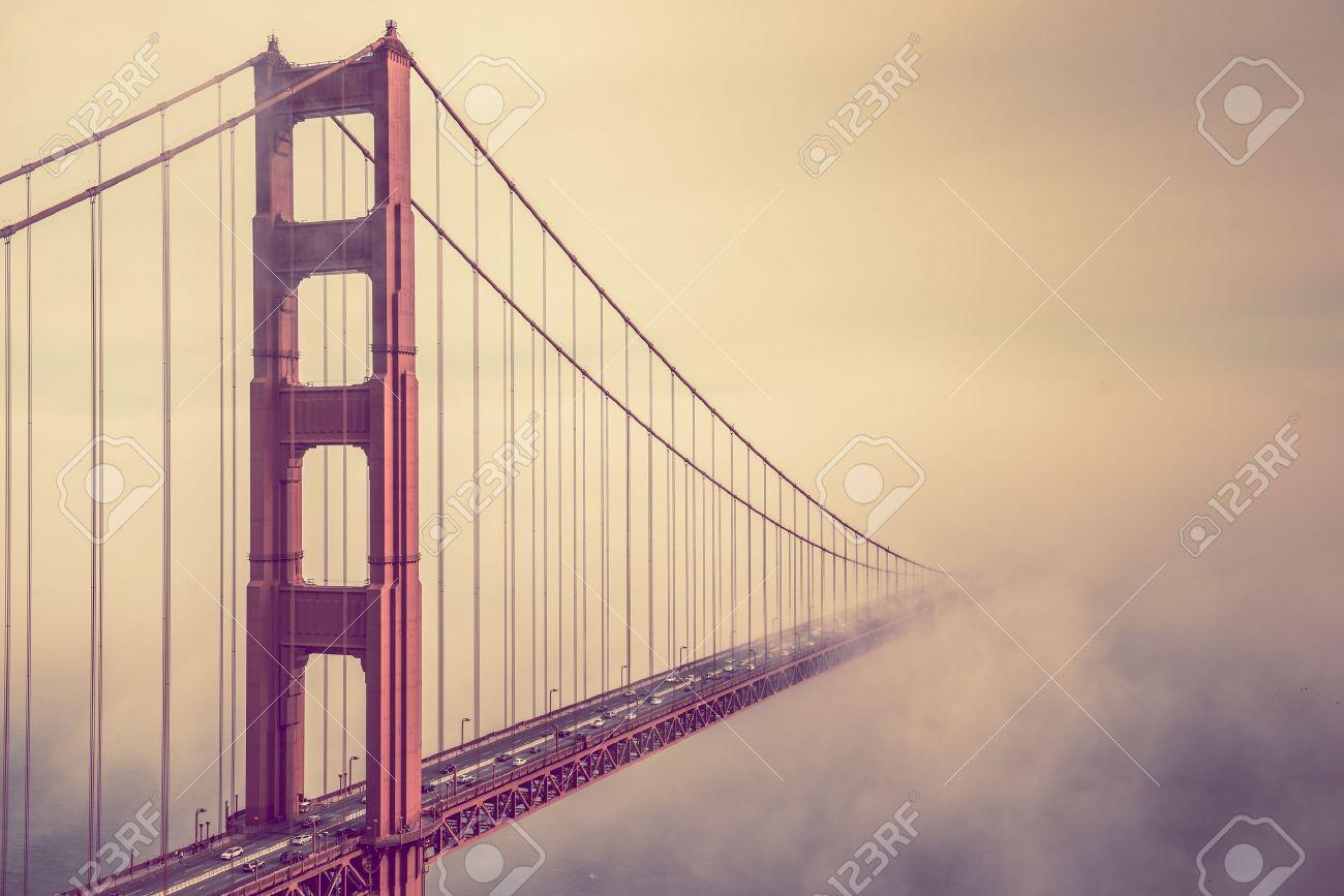 Printable coloring pages golden gate bridge - Golden Gate Bridge Into The Fog San Francisco Golden Gate Bridge Foggy Scenery
