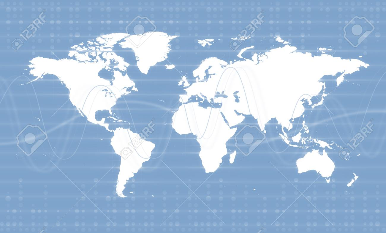 Digital world map business background theme light blue colors digital world map business background theme light blue colors stock photo 76631164 gumiabroncs Gallery