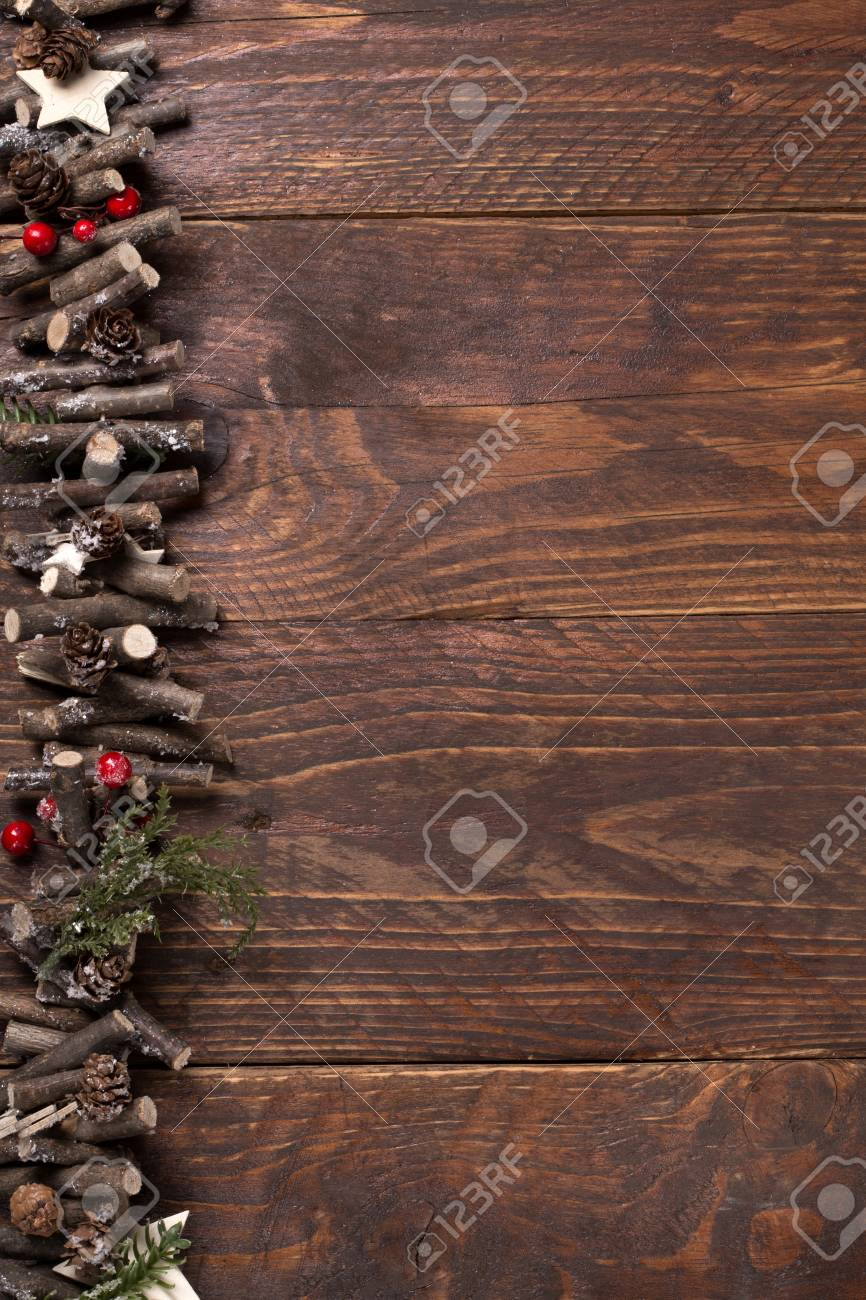 c045734d45c9d christmas wooden background - free space for your text Stock Photo -  91300703
