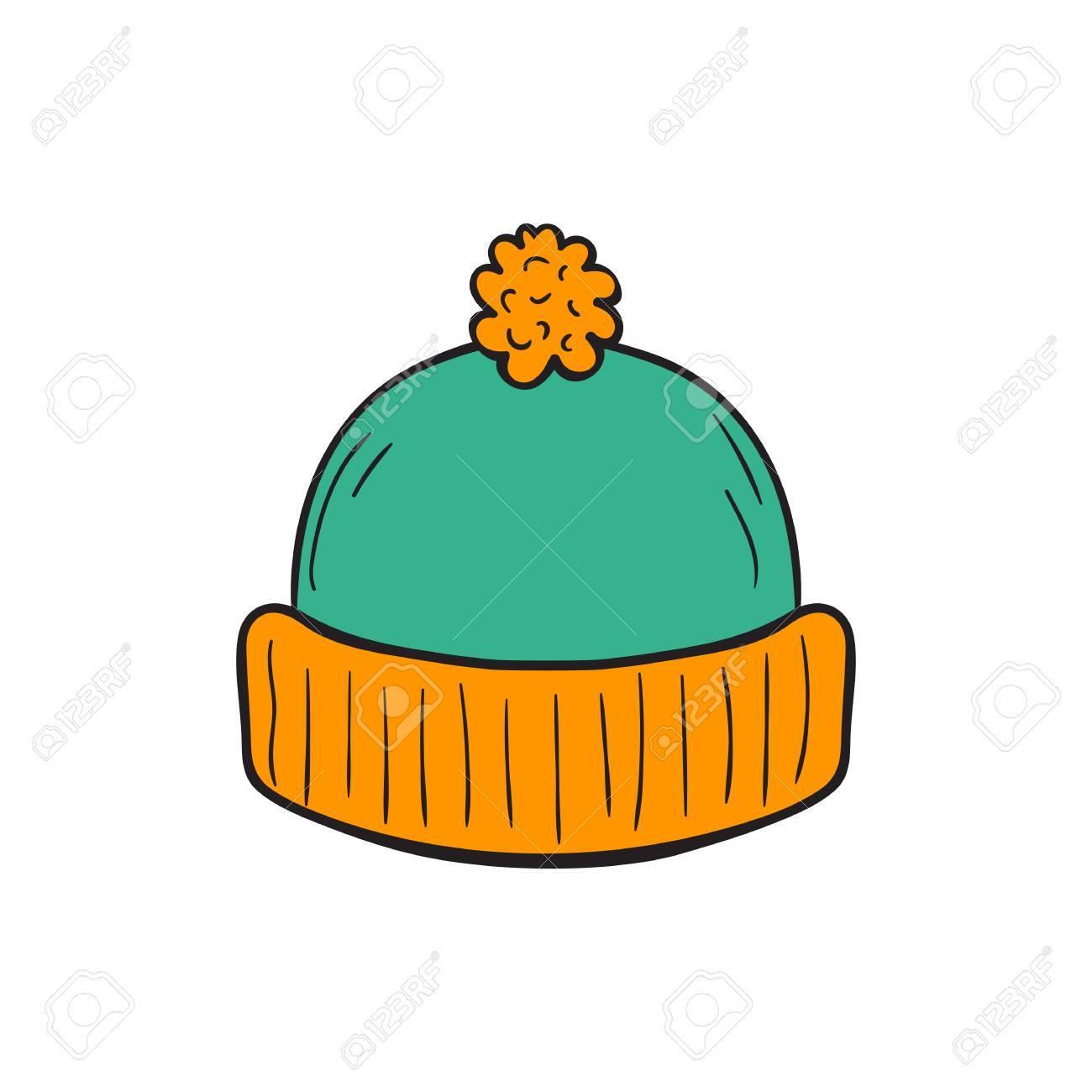 Ilustración De Dibujos Animados Con La Mano Del Otoño Aislada Dibujado  Hecho Punto Sombrero De Colores Sobre Fondo Blanco. Dibujado A Mano Icono  De La ... 7e9a1078832
