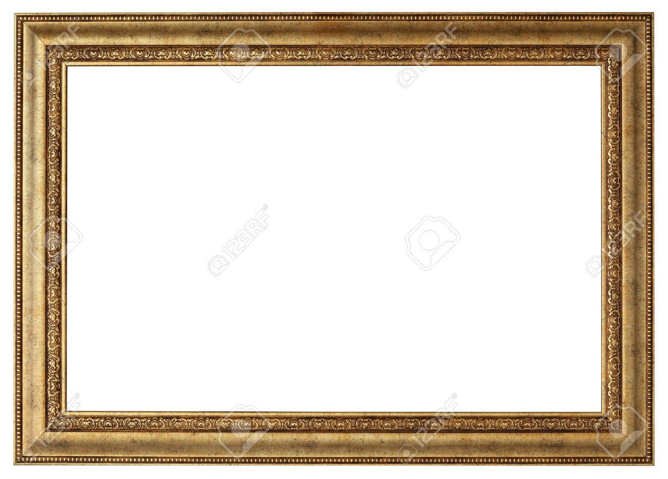 Gold Picture Frame. Isolated Path And Over White Background Stock ...