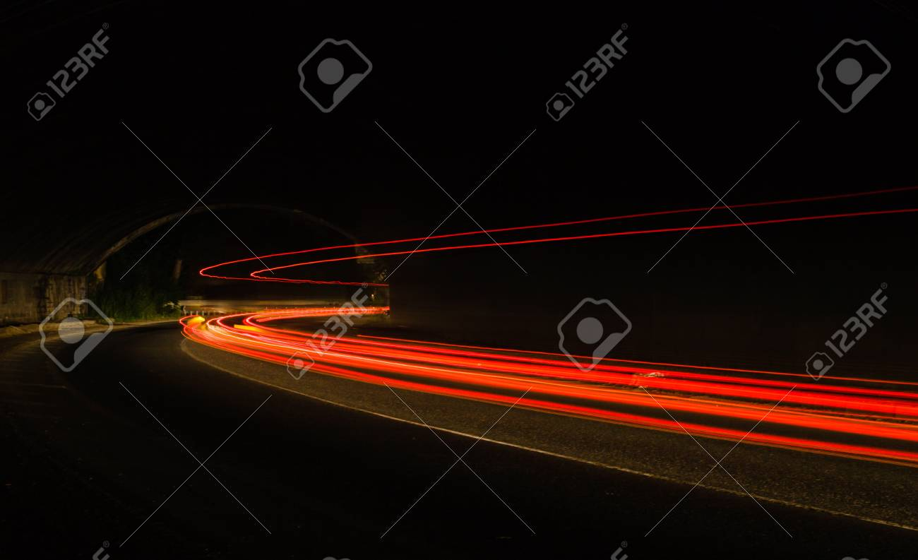 Car Light Trails In The Tunnel Long Exposure Photo Taken In Stock Photo Picture And Royalty Free Image Image 50337199