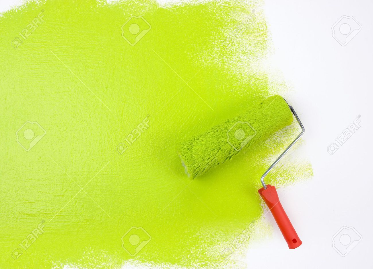 Green paint roller Stock Photo - 4143921