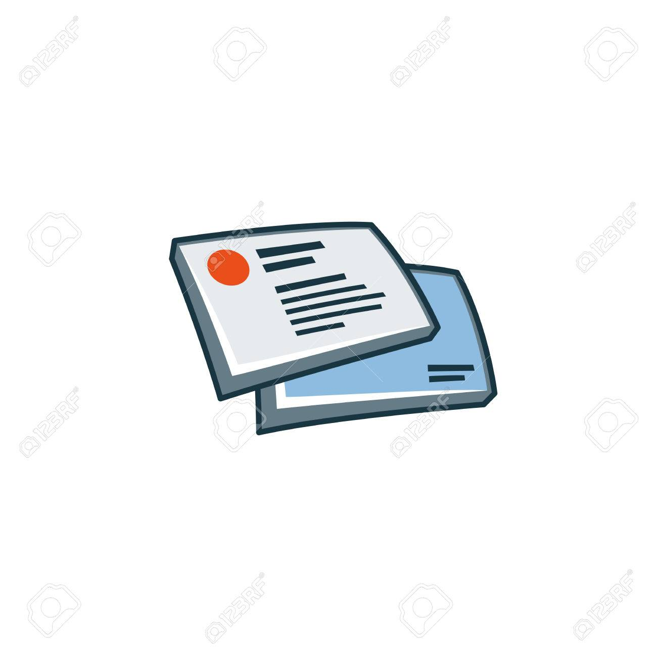 Simplified Business Cards Icon In Cartoon Style Print Publishing ...