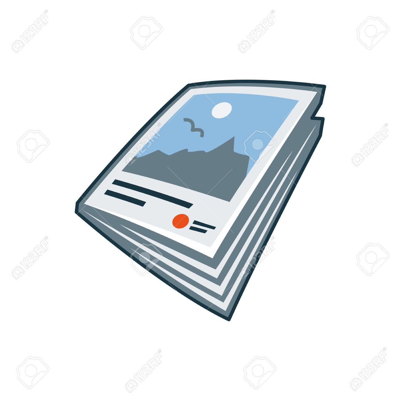 漫画のスタイルの印刷出版アイコン シリーズの簡易分離雑誌や