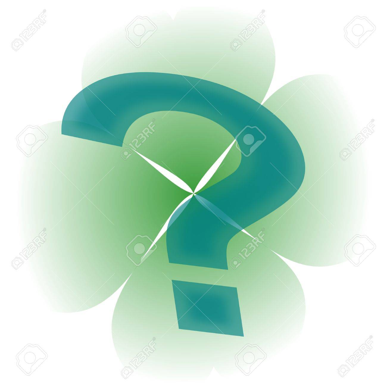 Four-leaf clover and a question mark Stock Vector - 12175622