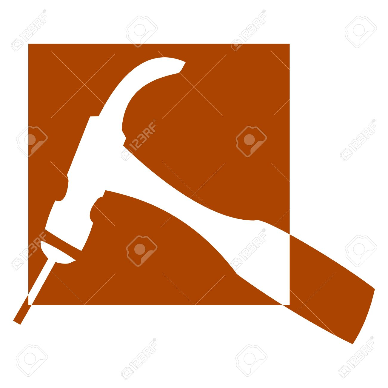 Logo for carpenters and joiners - hammer - Illustration Stock Vector - 12431156