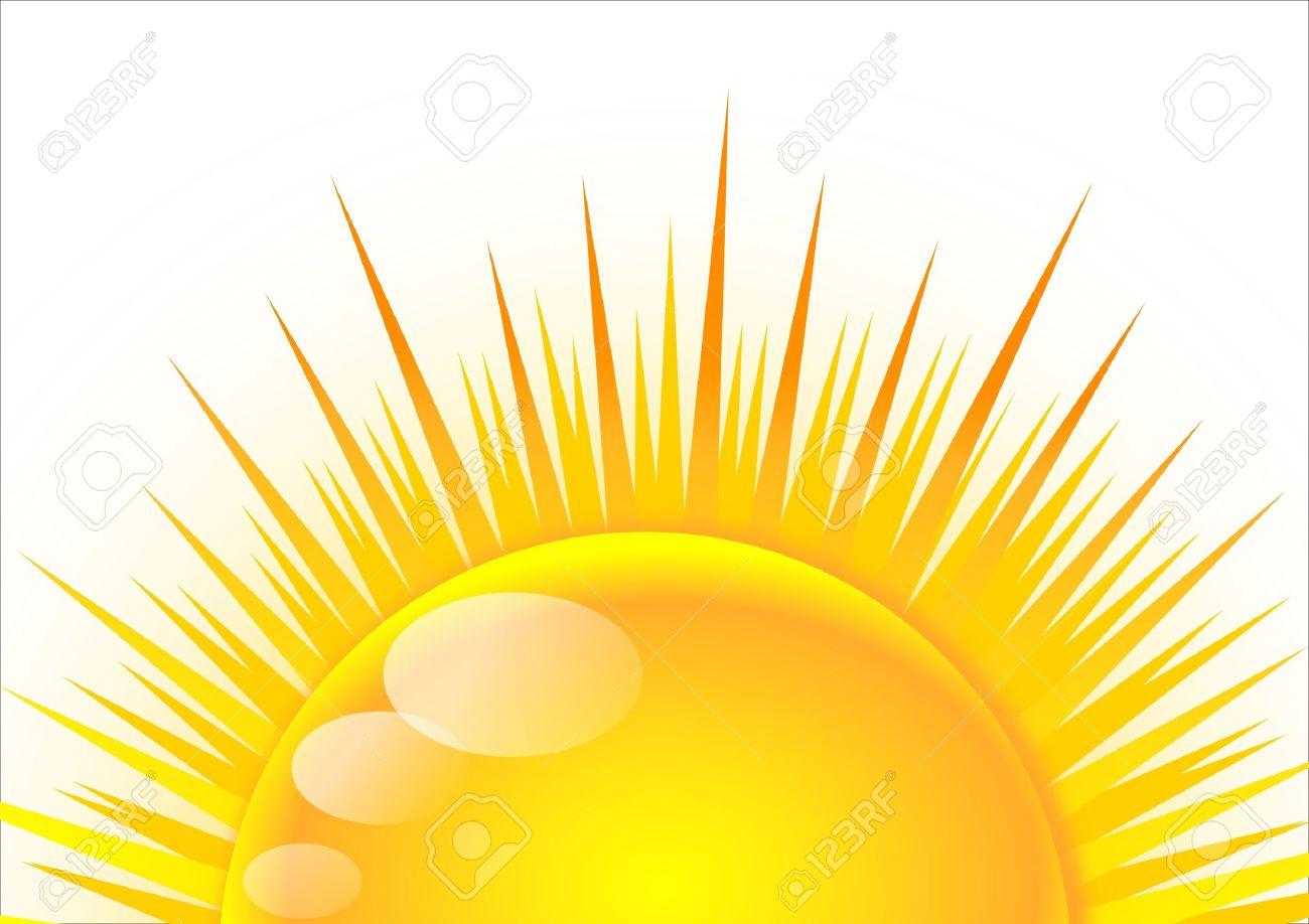 Half of the sun at sunrise Stock Vector - 15996593
