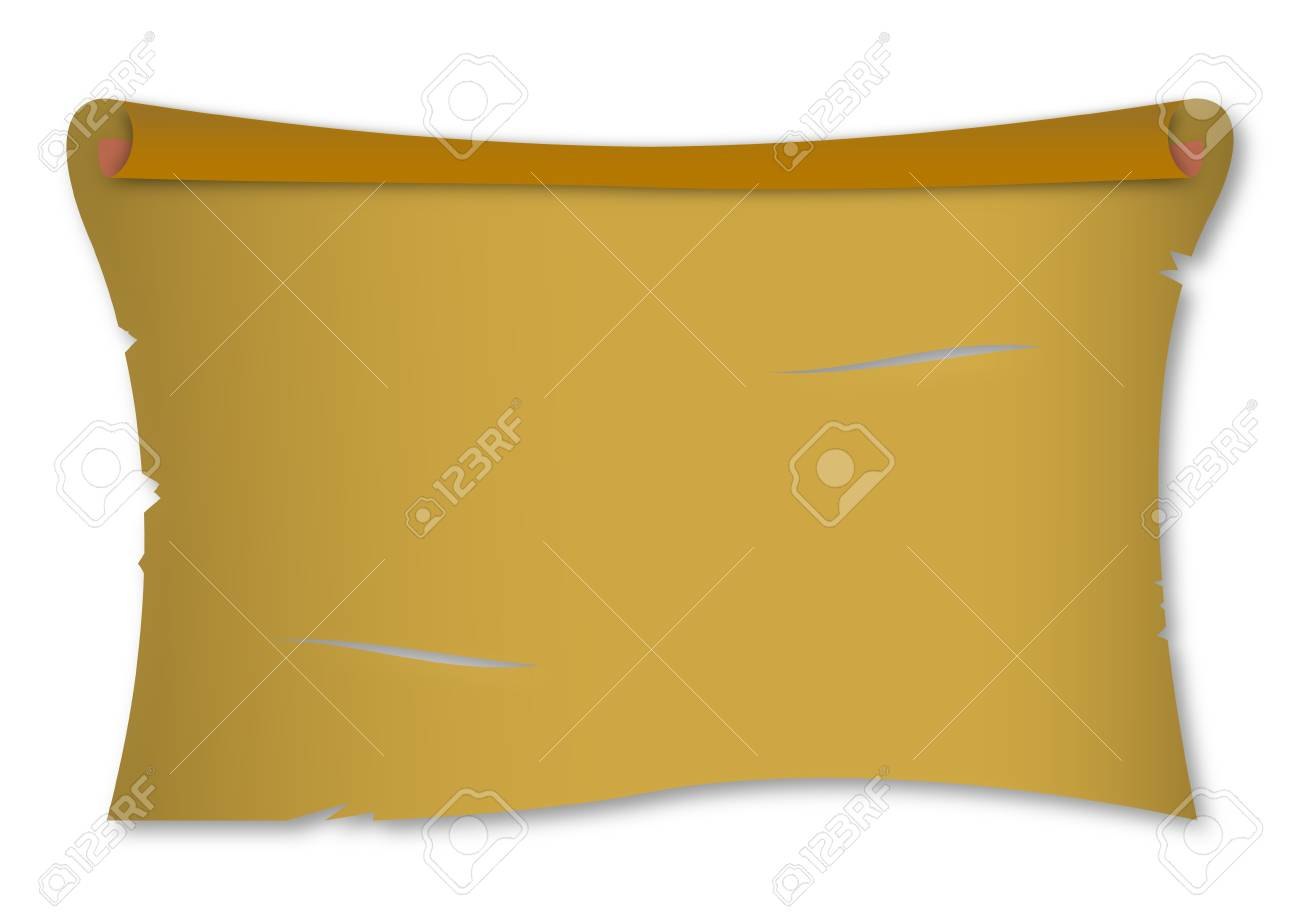Rolled up old paper for you - illustration Stock Vector - 16561067