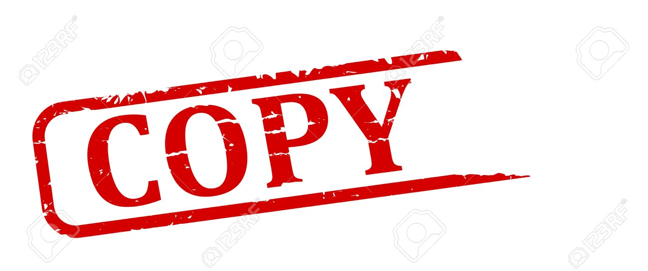red stamp with the word copy vector royalty free cliparts