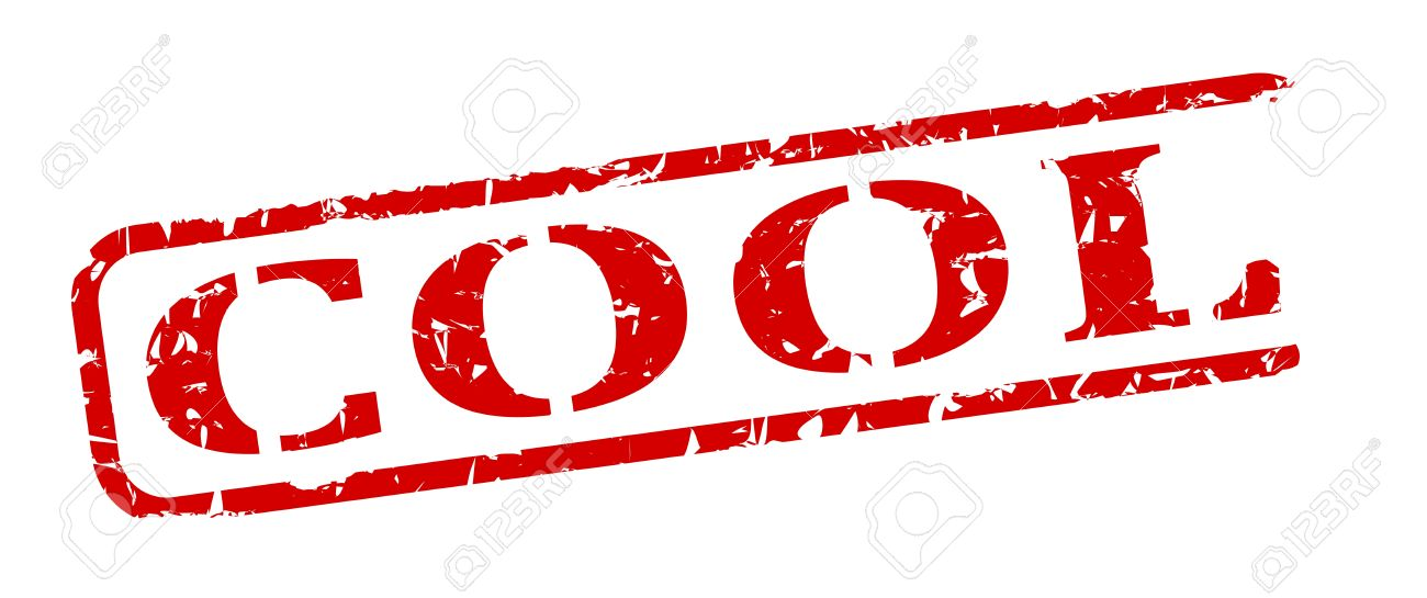 damaged oval red stamp with the word cool vector royalty free