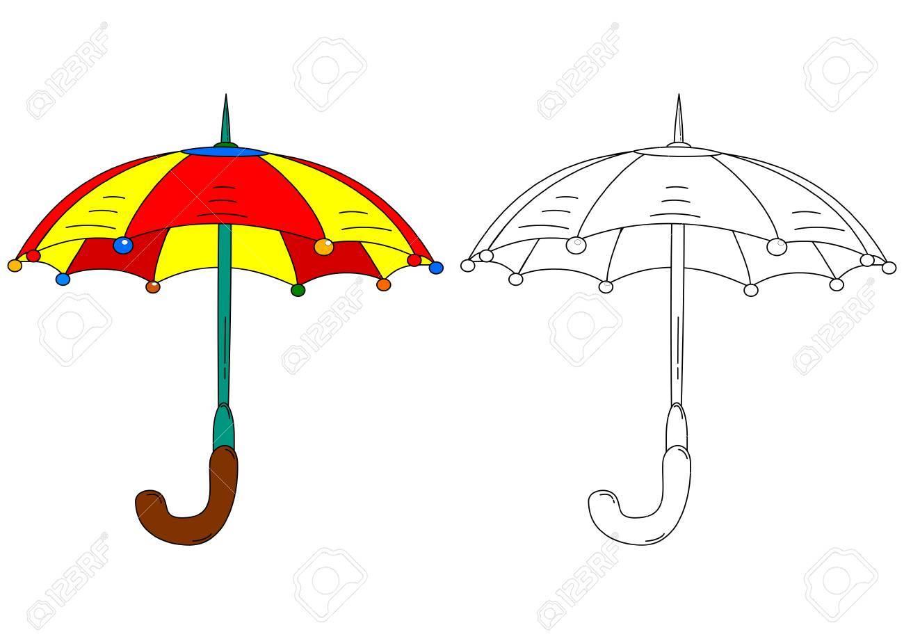 Sombrilla De Color Como Libros Para Colorear Para Los Niños Pequeños ...