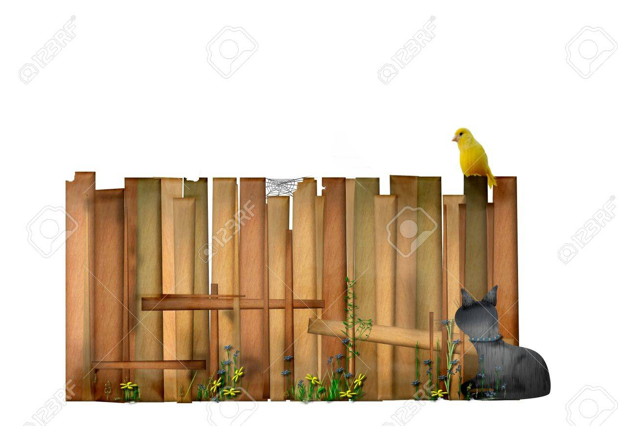 Idyllic garden fence Stock Photo - 12622932