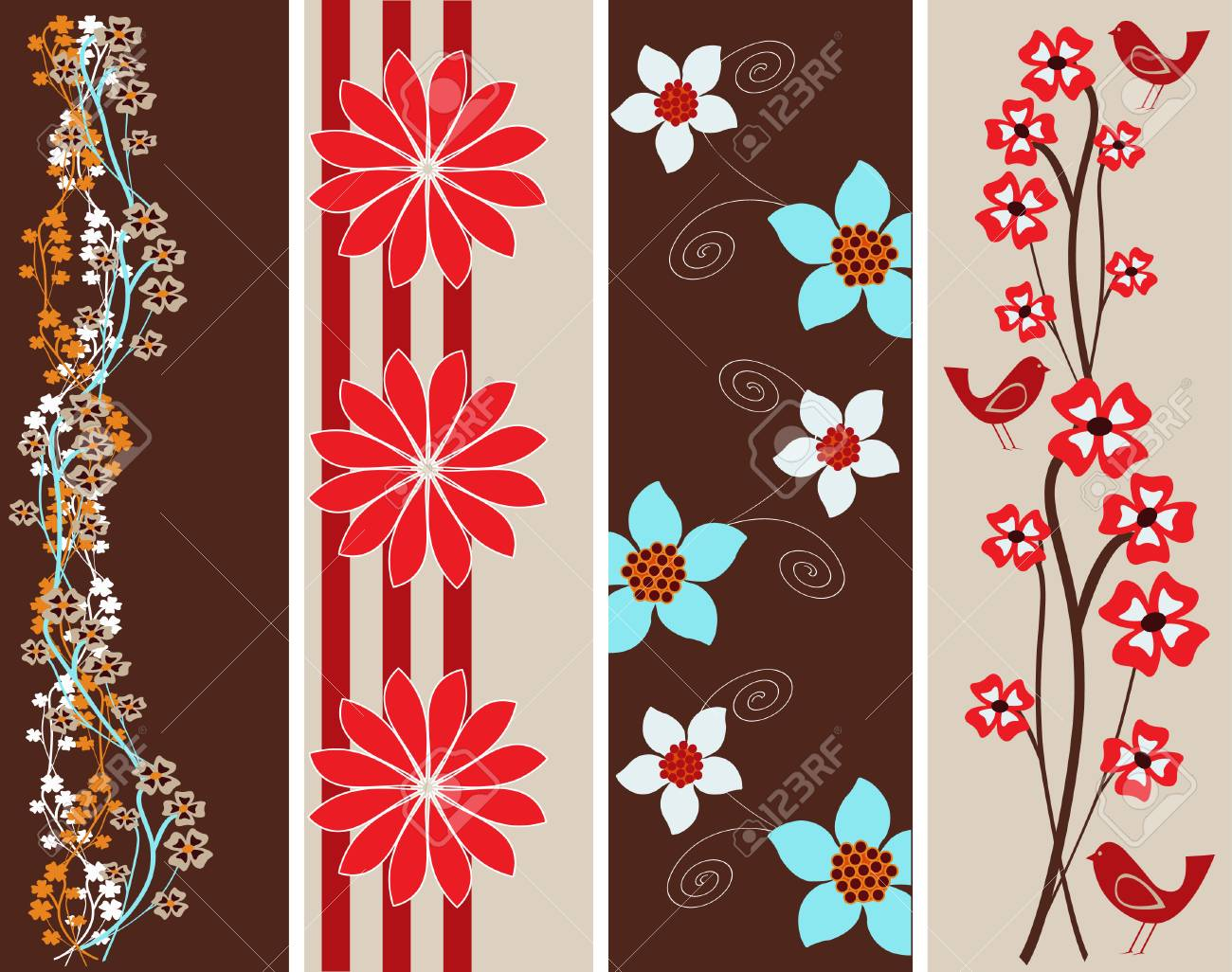 Abstract Floral web Banner Templates Stock Vector - 4510708