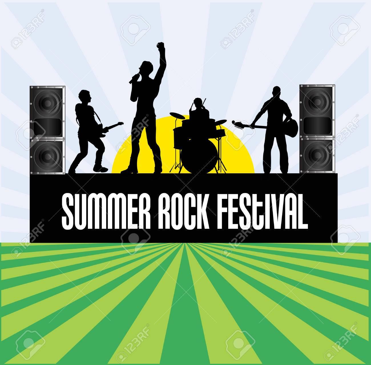 Summer Rock Festival Flyer Stock Vector - 4671243