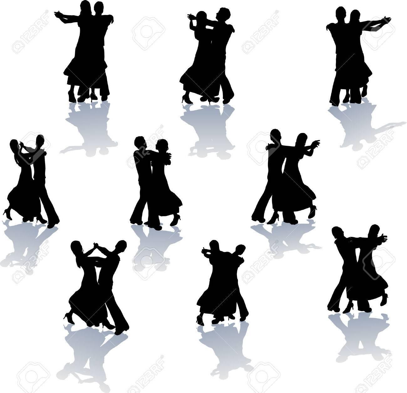 社交ダンス シルエットのイラスト素材ベクタ Image 5094890