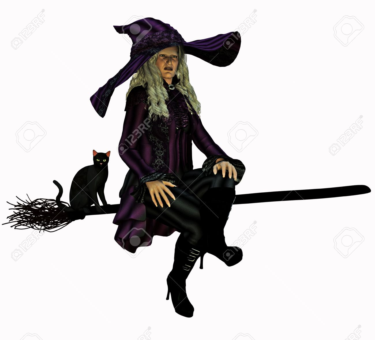 5,464 Broomstick Stock Illustrations, Cliparts And Royalty Free ...