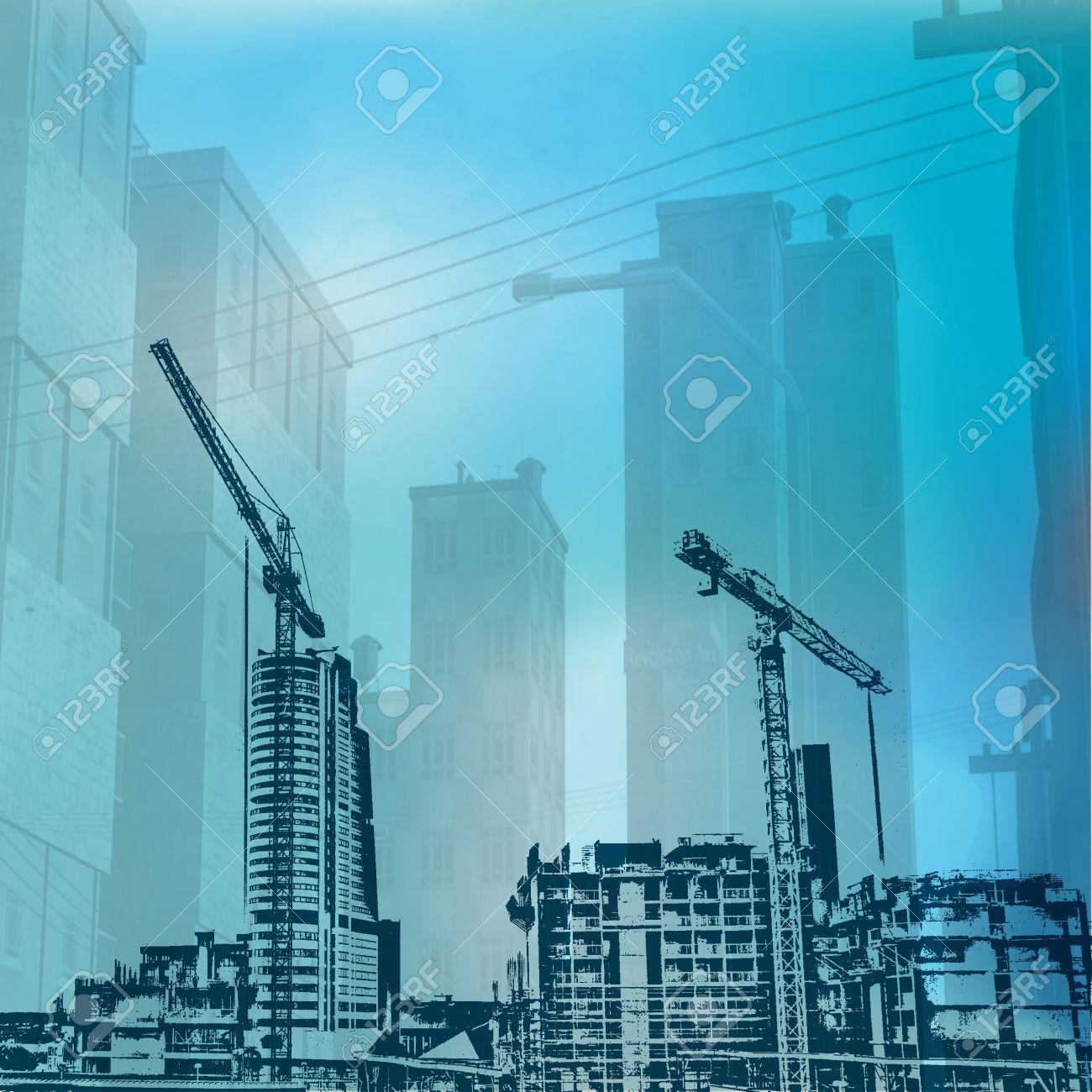 Urban Construction Background Stock Photo - 9081198