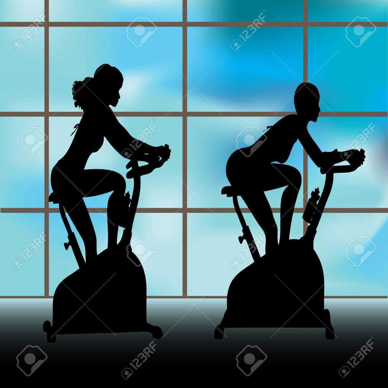 Exercise Window Stock Vector - 9337019