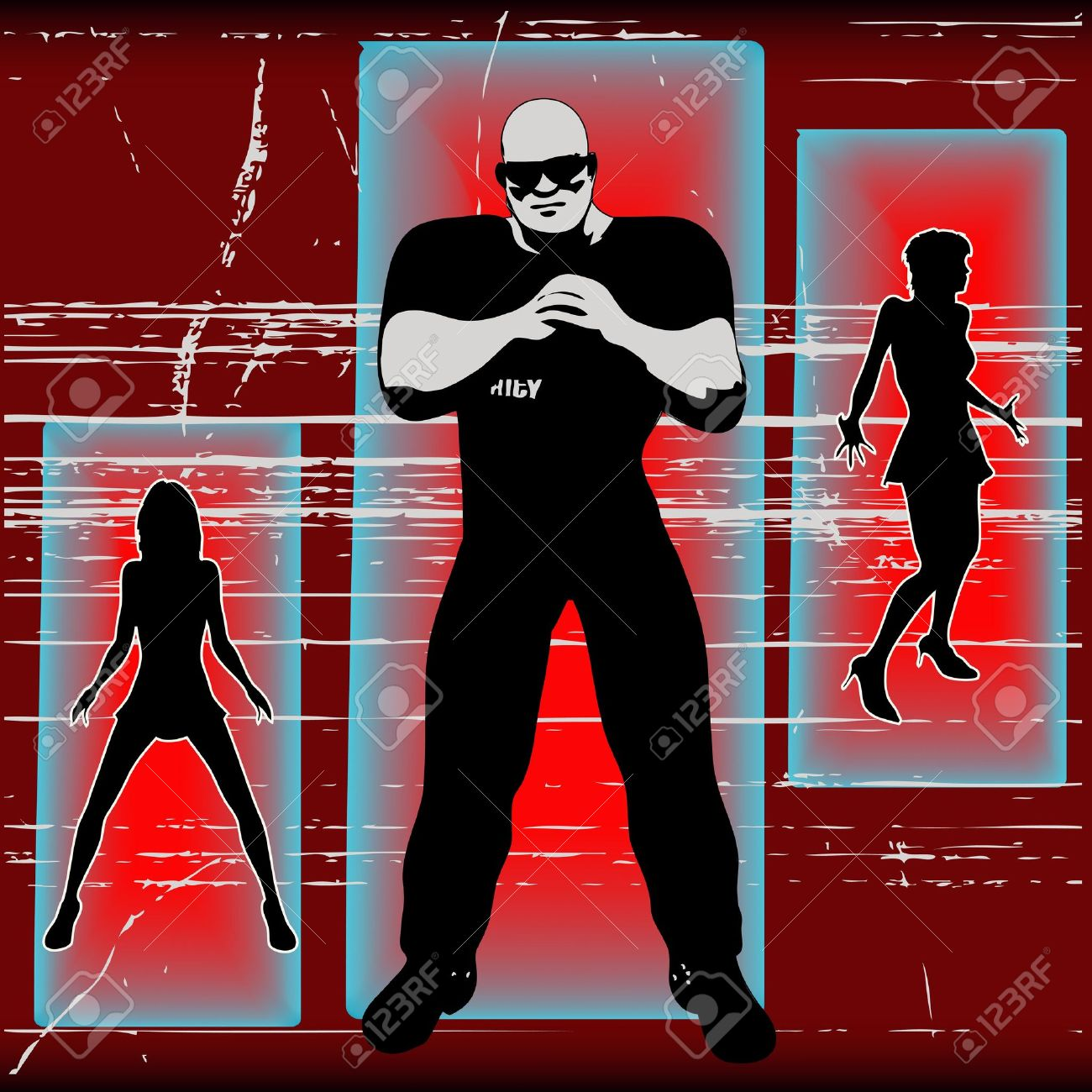 If Your Not On The List , Bouncer Background Stock Vector - 9615948