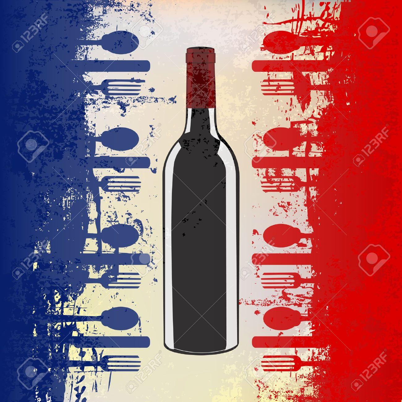 French Menu Template a Menu Template With a Wine