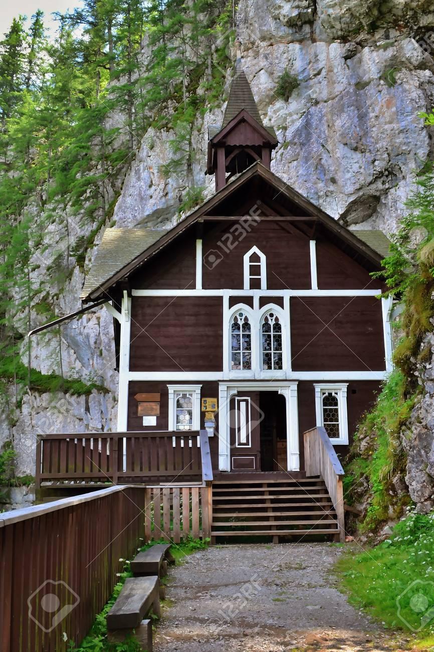 Old wooden church in the mountains, Sch?sserlbrunn, Austria - 61870466