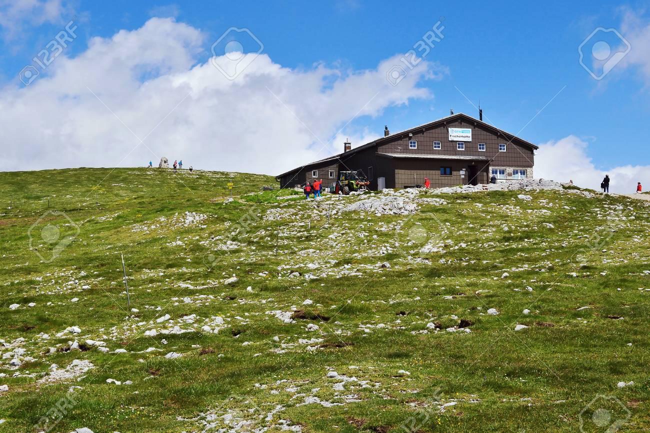 View of the mountain hut, Hochschneeberg - 61891338