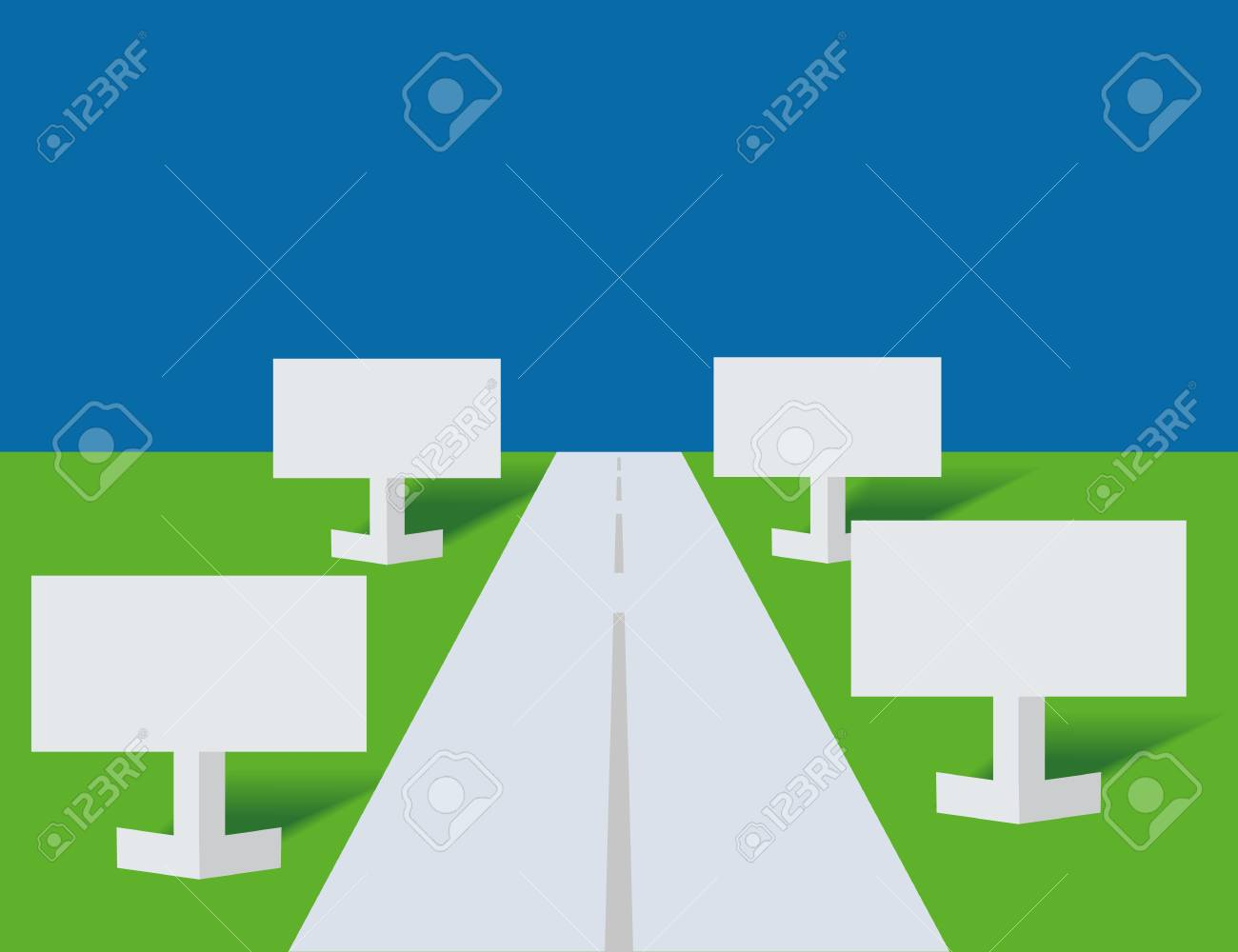 Highway and publicity boards from a paper Stock Vector - 7714848