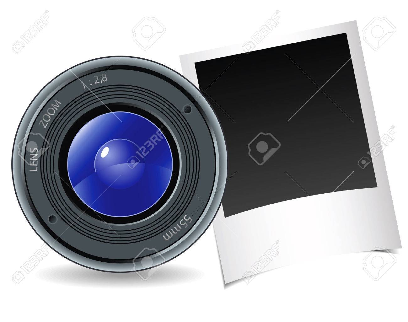 Camera and photography on a white background Stock Vector - 8727914