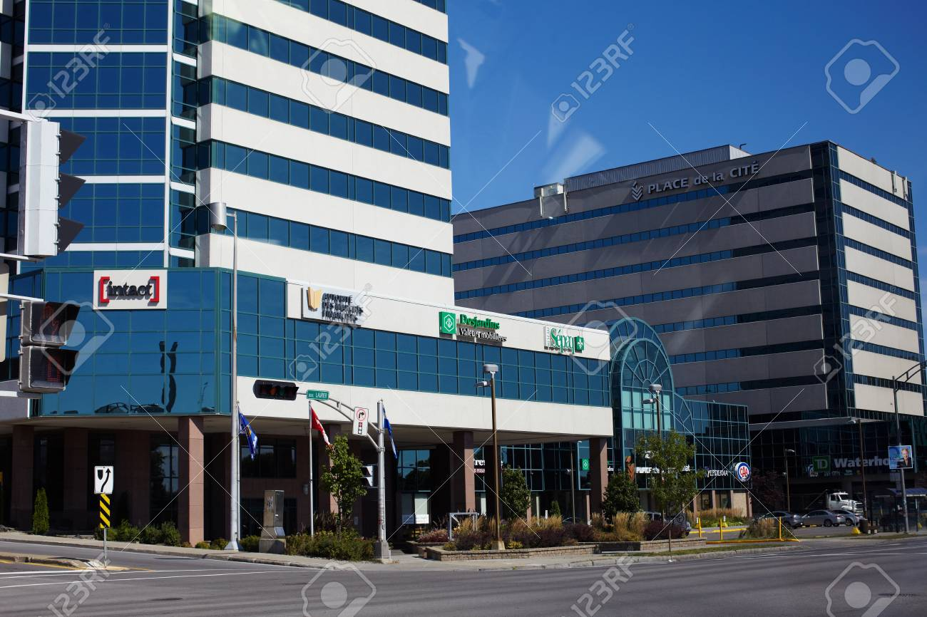 Bank of Canada in the large city Stock Photo - 17202422