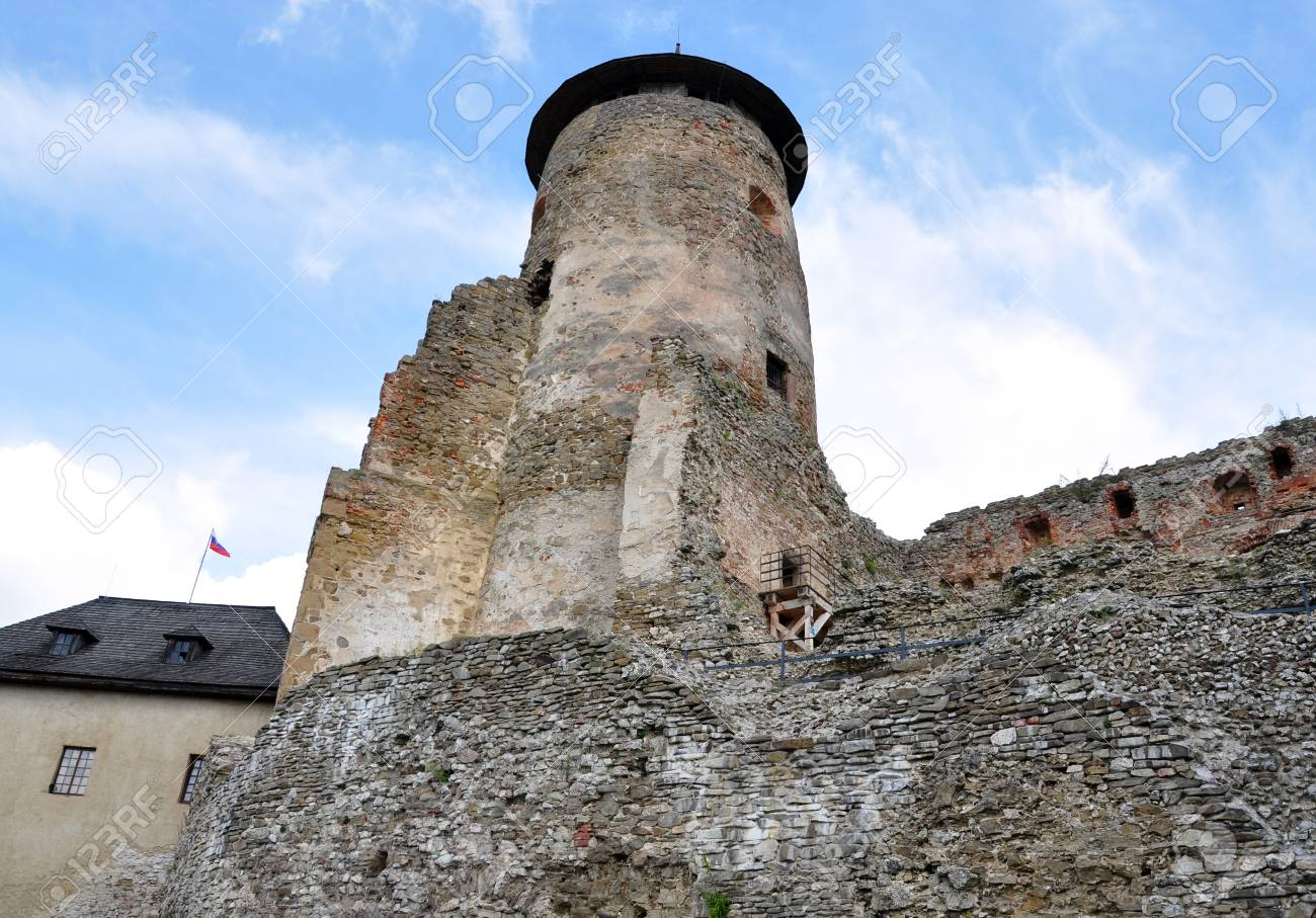 castle and the old tower of the Old Lubovna, Slovakia, Europe - 31474297