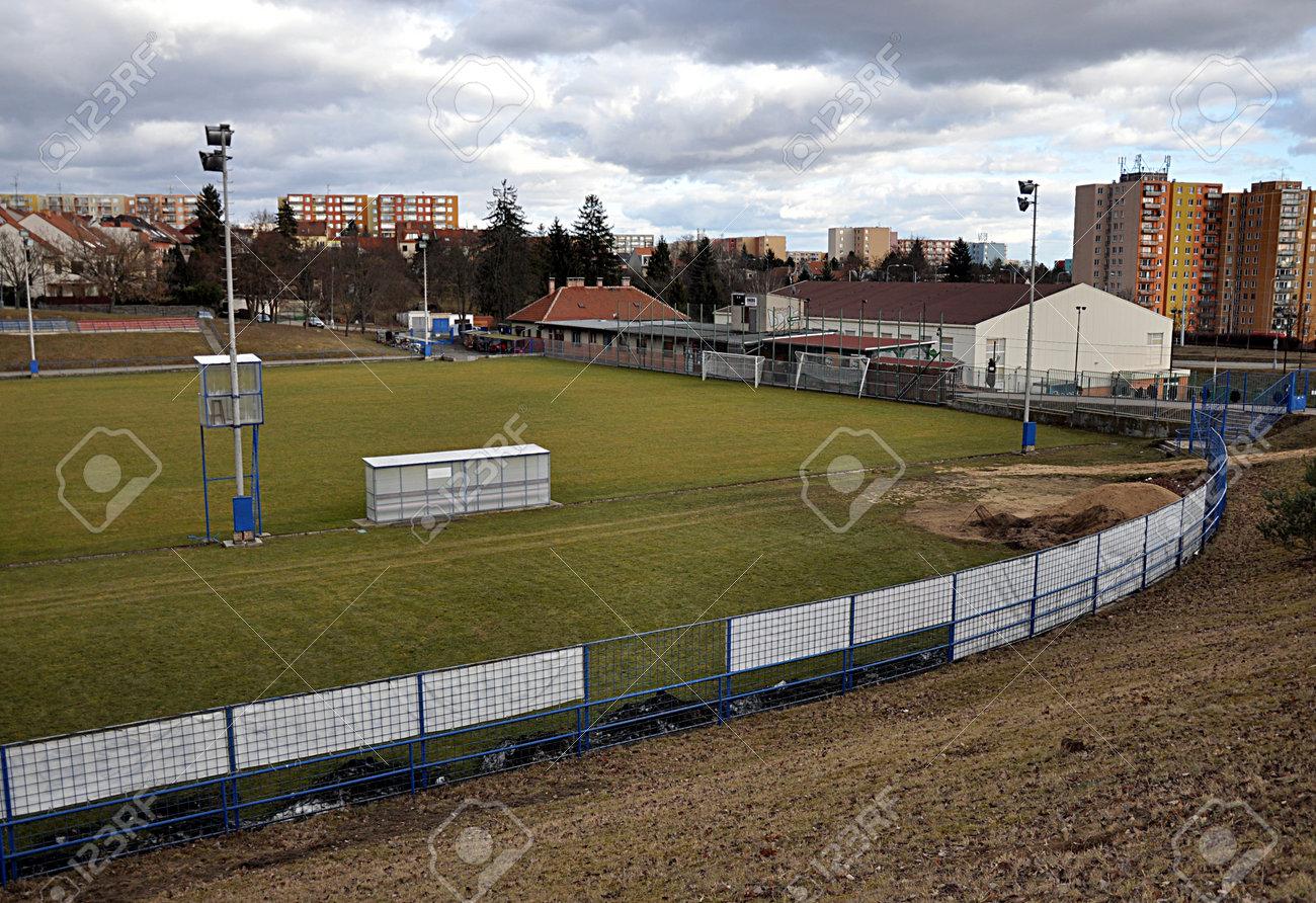 football field, city Brno, Czech republic, Europe - 162879518