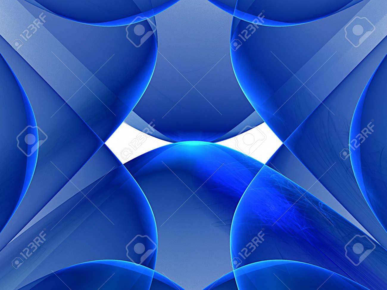 blue nice fractal - 165584641