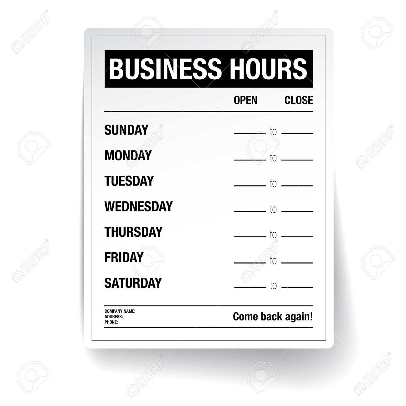 Business hours vector template royalty free cliparts vectors and business hours vector template stock vector 37067021 friedricerecipe Image collections