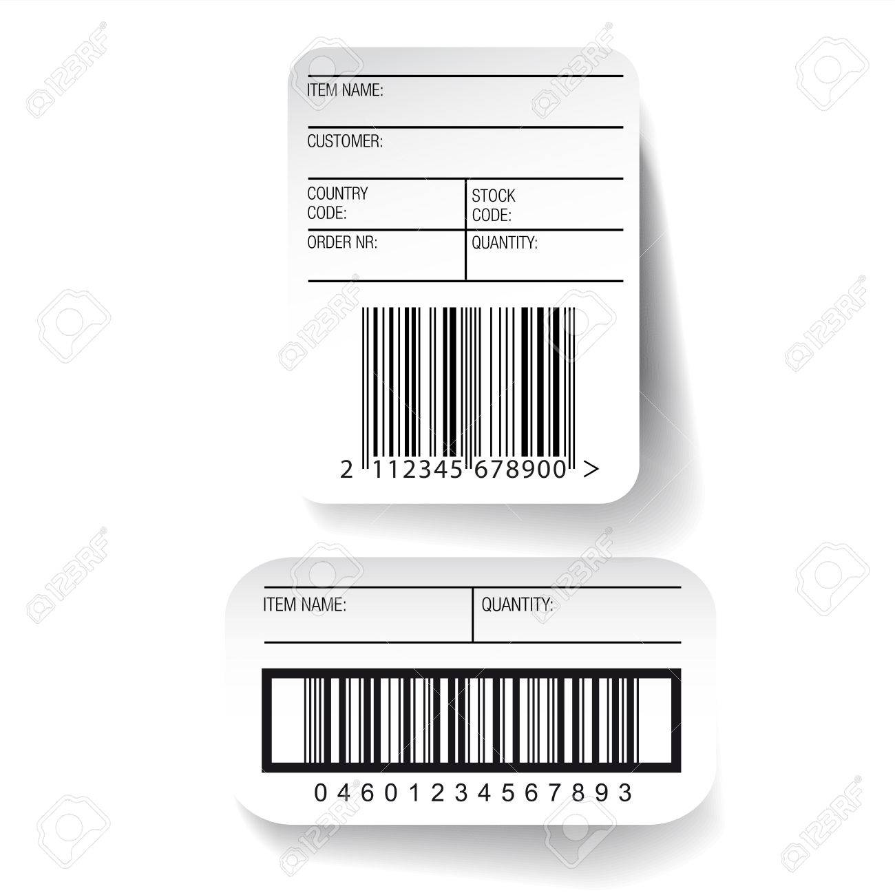 Barcode Label Template Vector Royalty Free Cliparts, Vectors, And ...