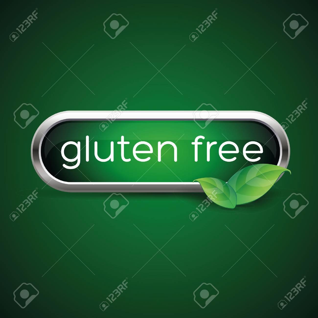 Gluten free button or label - 37288949