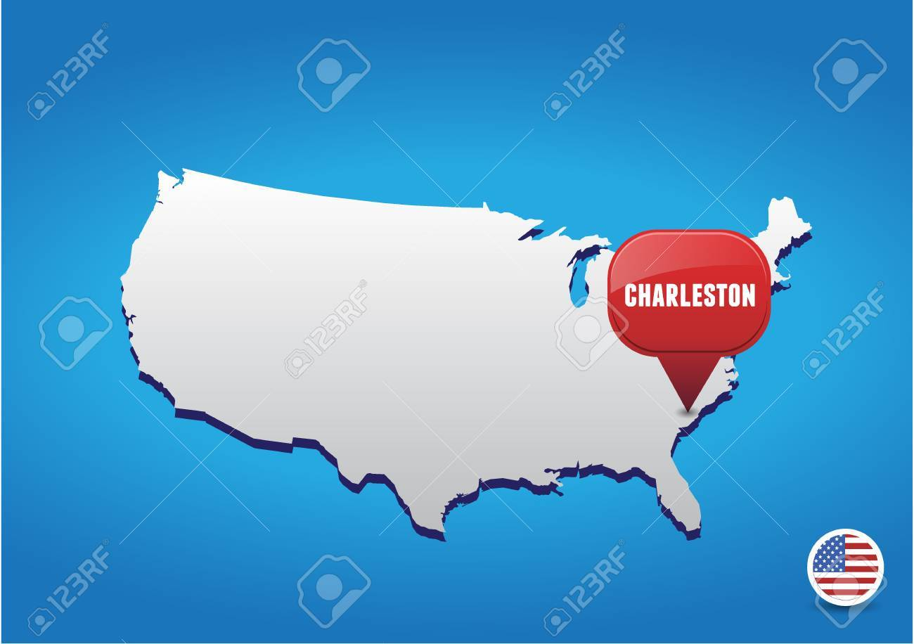 Charleston On Usa Map Royalty Free Cliparts Vectors And Stock