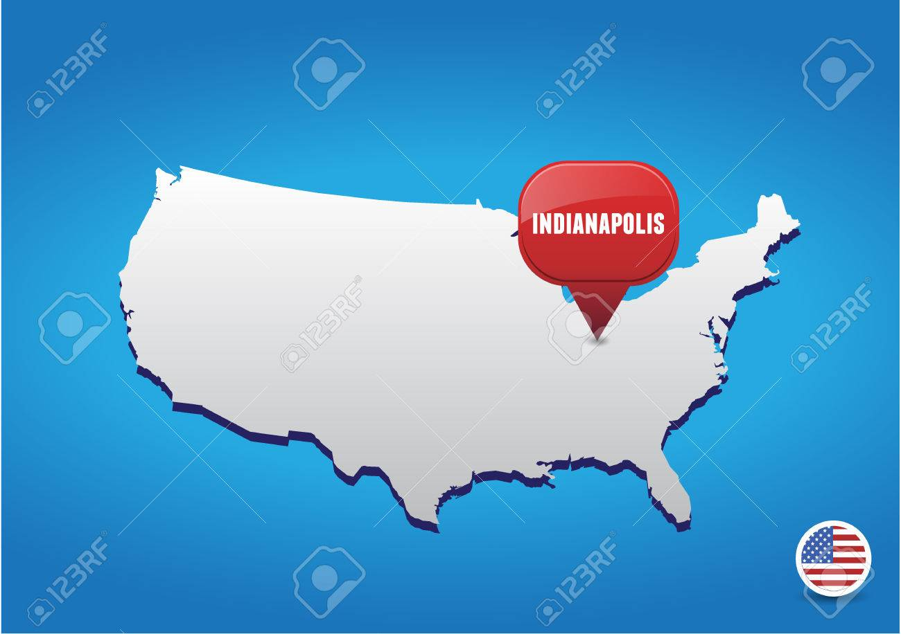 Indianapolis Us Map - Indiana on the us map