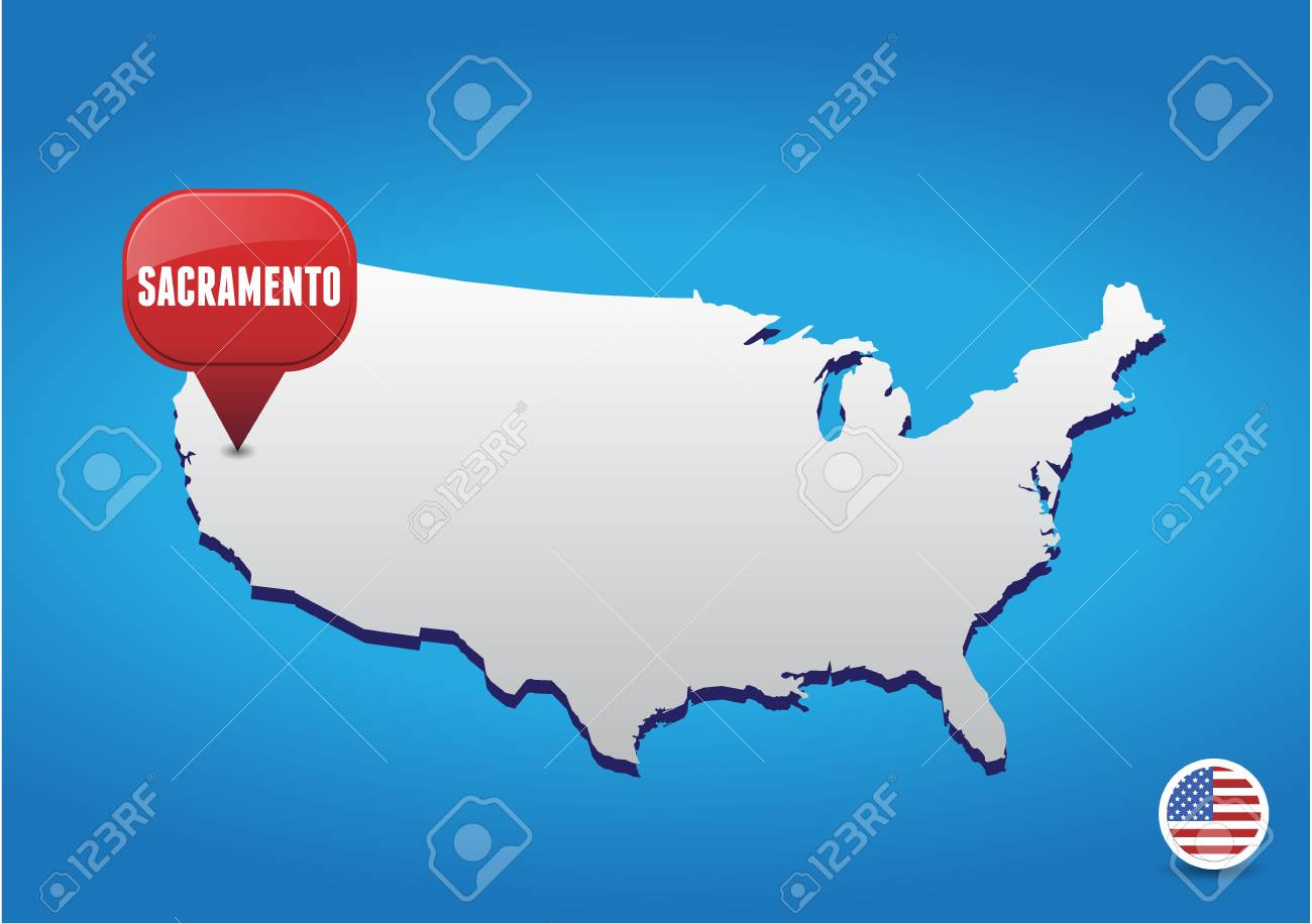 Sacramento On Us Map fidorme