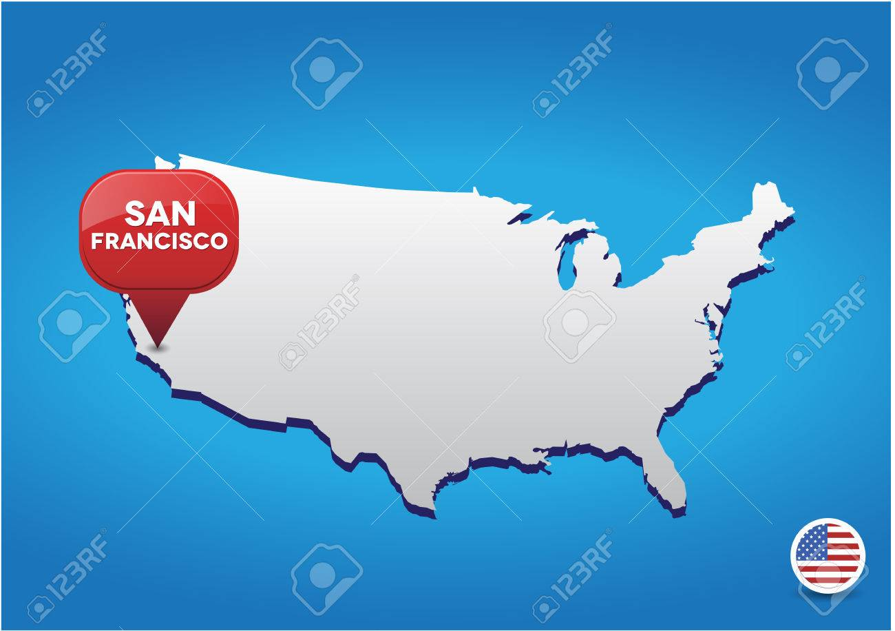 Jquery Vector Usa Map Map Of The United States U Canada Web - San francisco map vector free download
