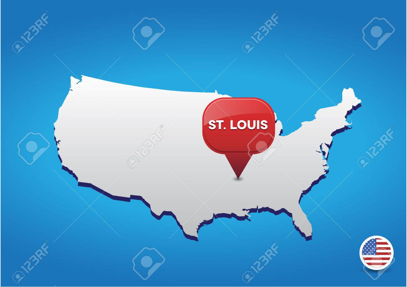 St Louis On Usa Map Royalty Free Cliparts Vectors And Stock Usa Map St Louis