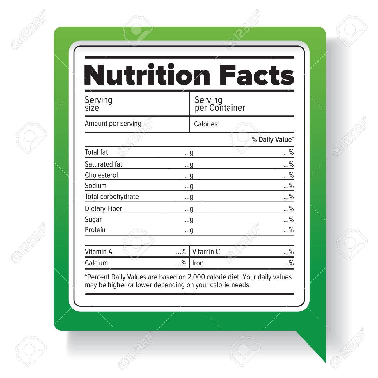栄養物の事実 ロイヤリティフリ...