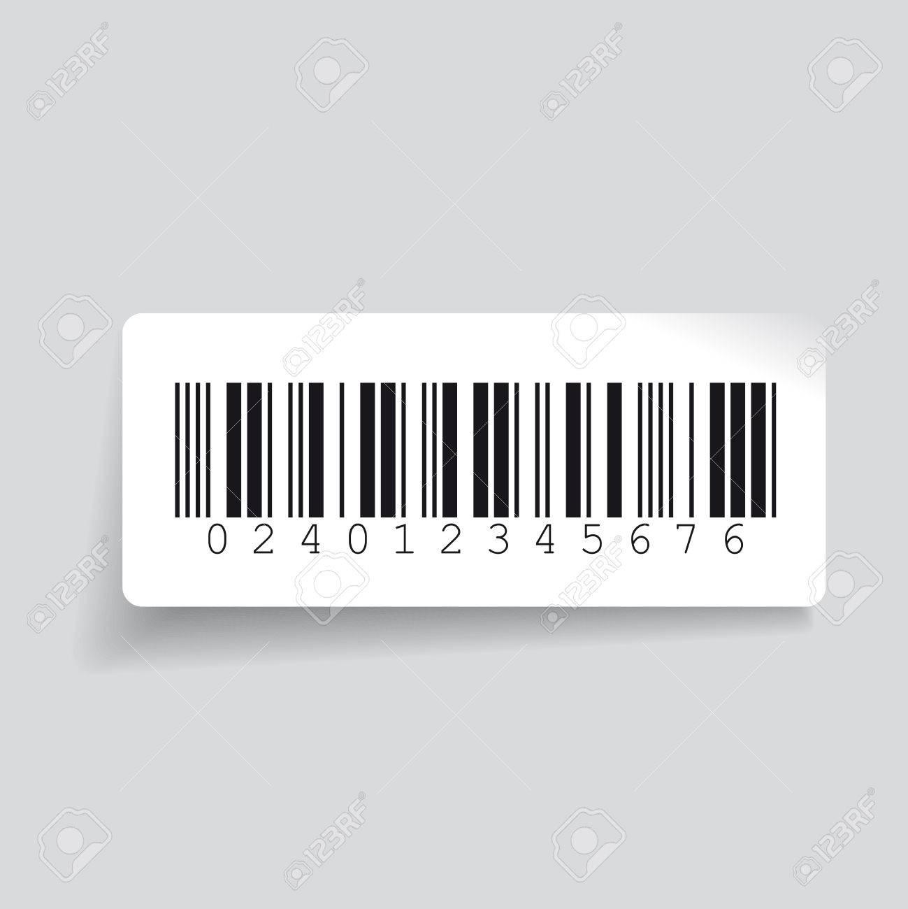 Barcode label vector - 46535760