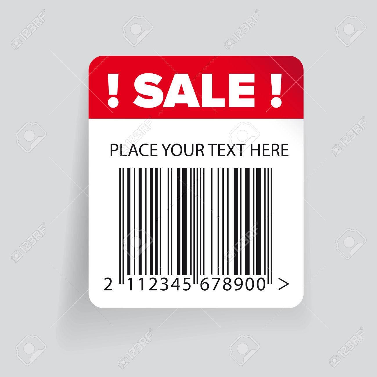 販売バーコード ラベル テンプレート ベクトル ロイヤリティフリー