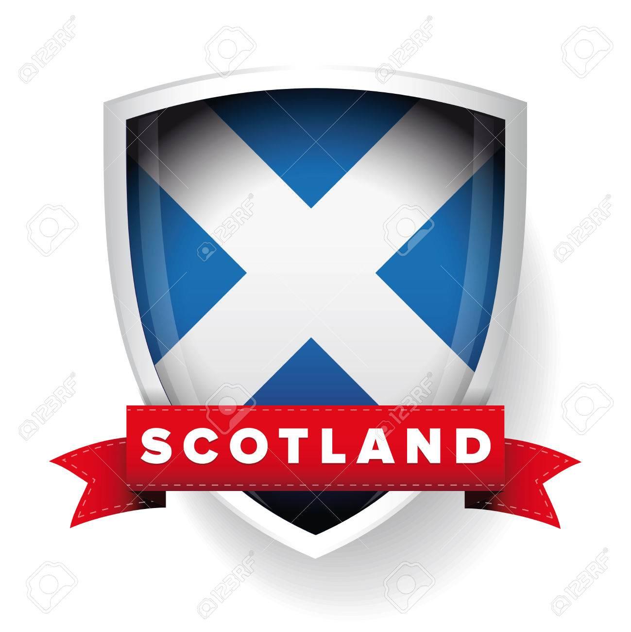 Scotland flag shield - 48841656