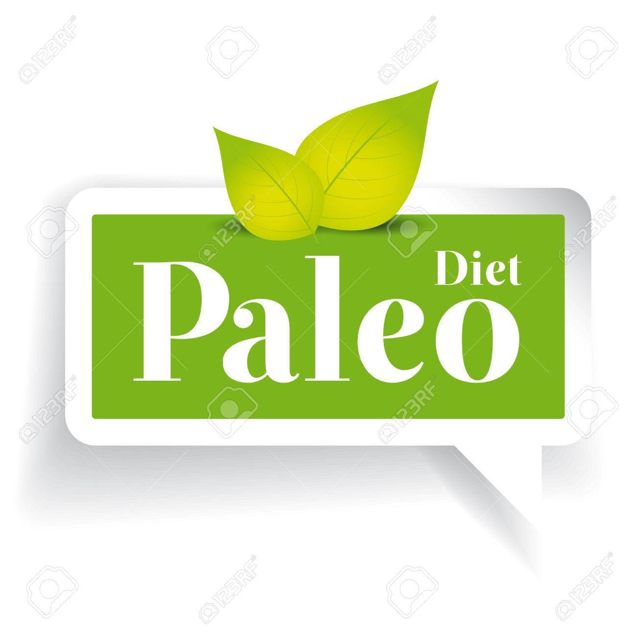 Paleo diet label vector - 49497936