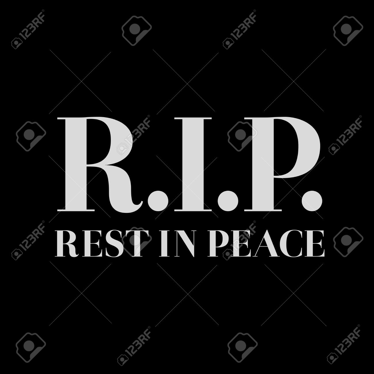 Rip Rest In Peace Sign Vector Royalty Free Cliparts Vectors And