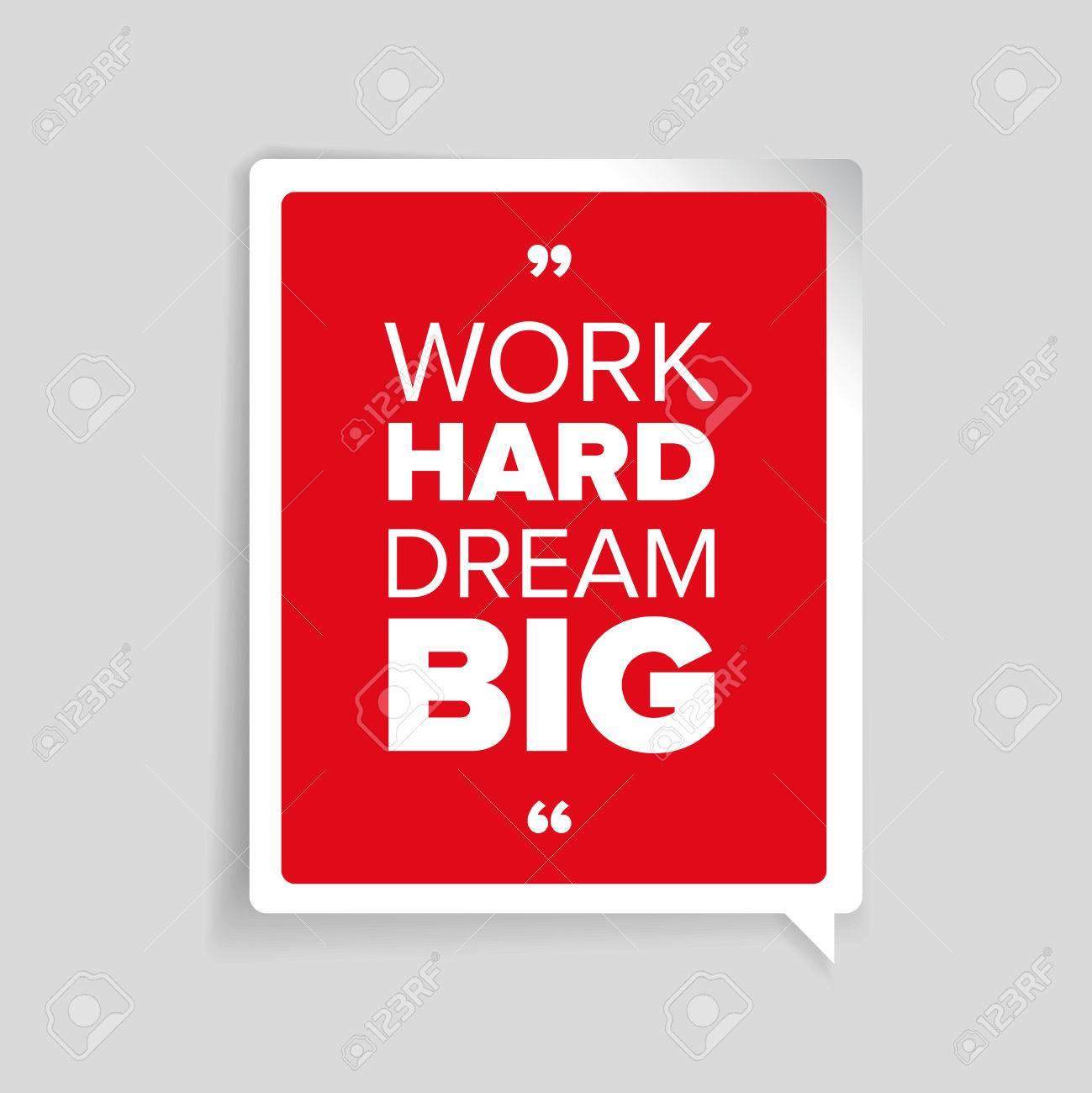 Travailler Dur Rêver Grand Citation De Motivation Inspirée