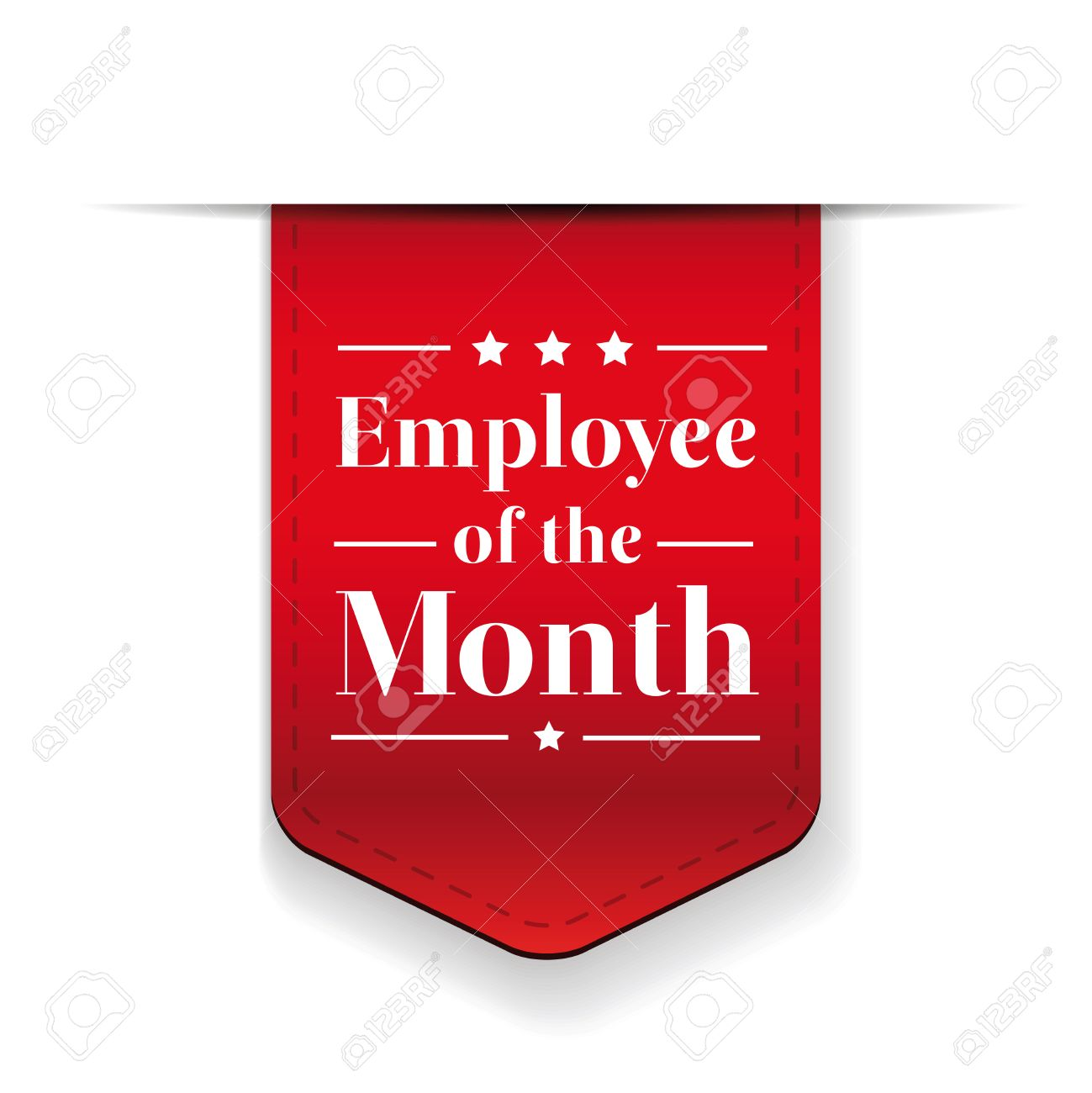 Employee Of The Month Award Ribbon Royalty Free Cliparts, Vectors ...
